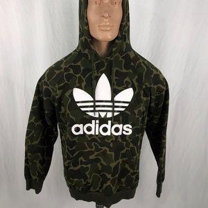 Adidas L Camo Hoodie Green Brown Black *FLAW*